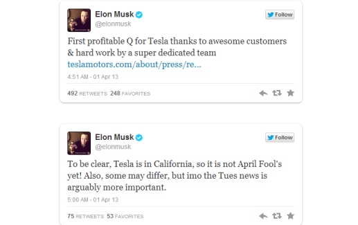 Tesla Profitable